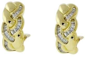 18K Yellow Gold 2/3ct. Diamond Woven Earrings