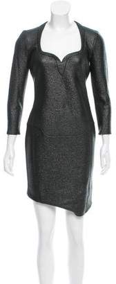 Thierry Mugler Virgin Wool Bodycon Dress w/ Tags