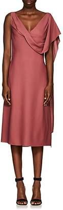 Sies Marjan Women's Marocain Drape-Front Crepe Dress - Dk Salmon