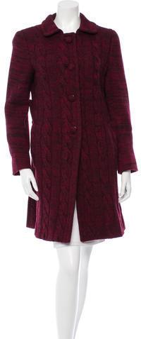 pradaPrada Wool Cable Knit Coat