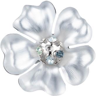 Alexis Bittar Liquid Rhodium Flower Pin