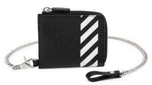 Off-White Diagonal Chain Leather Wallet