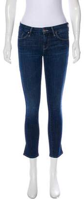 Mother Low-Rise Cropped Jeans