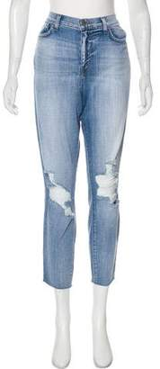L'Agence Dre Distressed Jeans