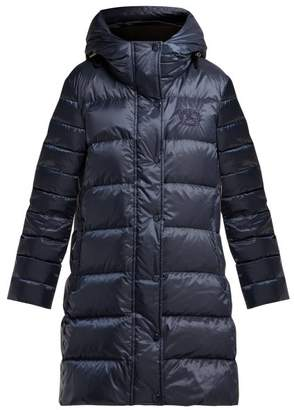 Burberry Kington Hooded Quilted Down Coat - Womens - Navy