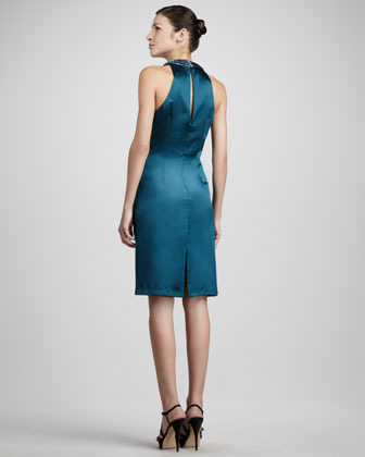 Aidan Mattox Draped Velvet/Satin Dress