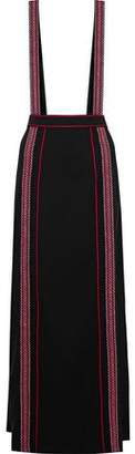 Anna Sui Embroidered Crepe Maxi Skirt