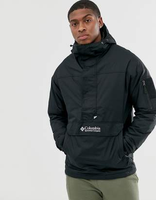 Challenger pullover jacket in black
