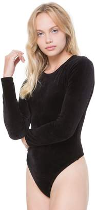 Juicy Couture Stretch Velour Long Sleeve Bodysuit