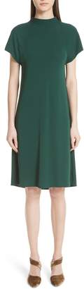 Rosetta Getty Drape Back Crepe Jersey Dress