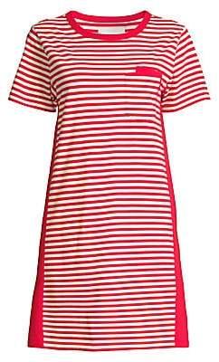 Current/Elliott Women's The Beatnik Striped T-Shirt Dress