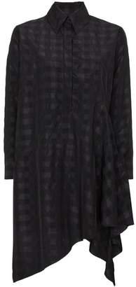 Marques Almeida Marques'almeida Asymmetric checked shirt dress