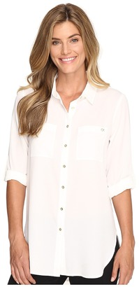 Calvin Klein - Roll Sleeve Tunic Women's Clothing $69.50 thestylecure.com