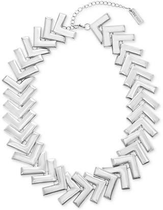"Steve Madden Silver-Tone Arrow Collar Necklace, 18"" + 4"" extender"