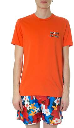 Ami Alexandre Mattiussi Salut Ca Va Orange Cotton T-shirt