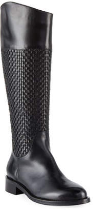 Sesto Meucci Zelima Woven Leather Knee Boots