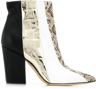 Sergio Rossi animal print boots