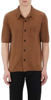 Barneys New York Burberry X Men's Stockinette-Stitched Short-Sleeve Shirt - Beige