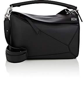 Loewe Women's Puzzle Medium Leather Shoulder Bag - Black