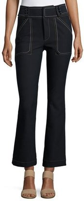 Derek Lam 10 Crosby Utility Cropped Flare Trouser $365 thestylecure.com