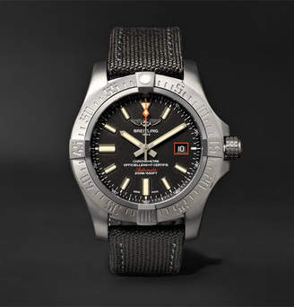 Breitling Avenger Blackbird Automatic 44mm Titanium And Canvas Watch