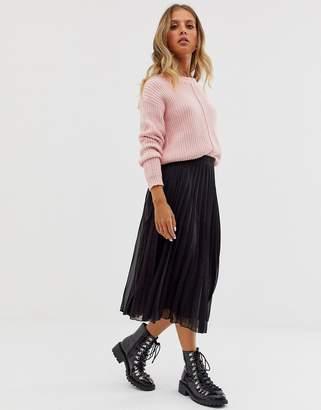 Asos Design DESIGN pleated midi skirt