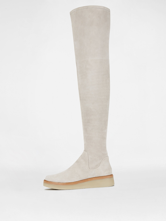 DKNY Kyra Stretch Suede Thigh High Boot