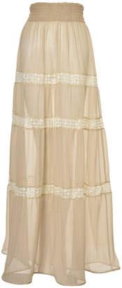 Lilly Sarti Long Seda Skirt