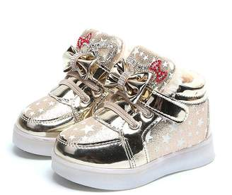 Witspace-Baby Winter Shoes Toddler Luminous Shoes, Witspace Baby Led Sneakers Boys Girls Winter Boots Fur Walkers