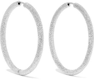 Carolina Bucci Floine 18 Karat White Gold Hoop Earrings One Size