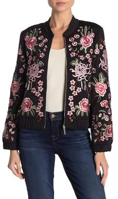 STELLAH Floral Bomber Jacket