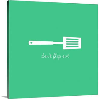 KitchenArt Great Big Canvas 'Kitchen Art Don't Flip Out Retro by Kate Lillyson Graphic Art Print