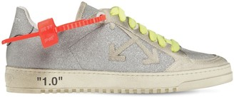 Off-White Off White 20mm Arrow Glitter & Suede Sneakers