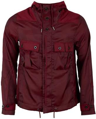 Pretty Green Iridescent Hooded Jacket Colour: BURGUNDY, Size: LARGE