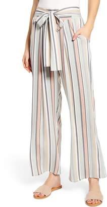 One Clothing Tie Waist Stripe Pants