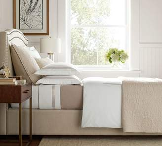 Pottery Barn Tamsen Curved Upholstered Bed