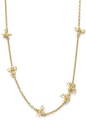 Temple St. Clair 18K Yellow Gold Bee Chain Diamond Necklace, 18""