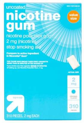 Nicorette Up&Up Uncoated Nicotine 2mg Stop Smoking Aid Gum - Original- 310ct - Up&Up (Compare to active ingredient in Gum)