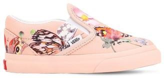 Vans Butterfly Print Canvas Slip-on Sneakers