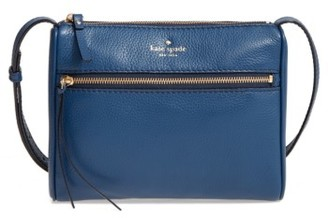 Kate Spade New York Young Lane - Cayli Leather Crossbody Bag - Blue $198 thestylecure.com