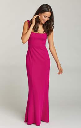 Show Me Your Mumu Belinda Dress ~ Crepe Stretch Fuschia Rose