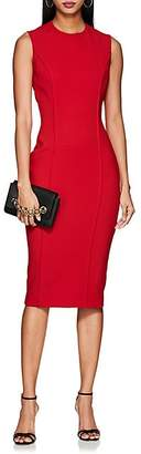 Victoria Beckham Women's Bonded Crepe Fitted Dress - Red