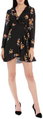 Miss Shop Frilly Wrap Dress - Vintage Floral