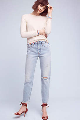 Levi's Wedgie High-Rise Straight Jeans $158 thestylecure.com