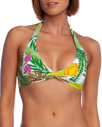 ec57f4f1673 Trina Turk It's Bananas Twist-Front Halter Bikini Top