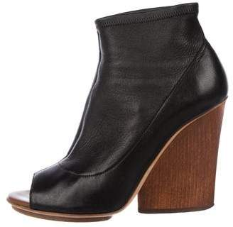 Maiyet Leather Peep-Toe Booties