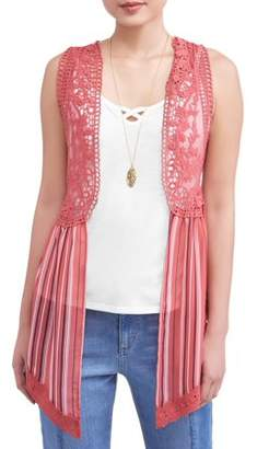 No Boundaries Juniors' Crochet Lace, Tank & Necklace 3Fer