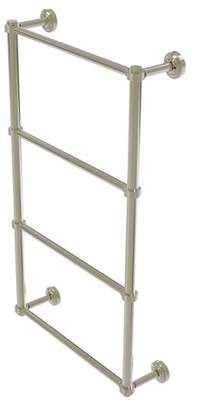 Allied Brass Dottingham Collection 4 Tier 24 Inch Ladder Towel Bar with Groovy Detail