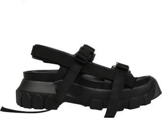 Rick Owens Black Leather Hiking Sandals