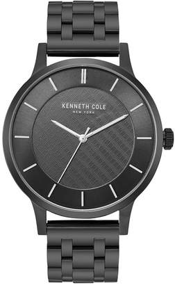 Kenneth Cole New York Men Black Bracelet Watch with Black Classic Dial, 44MM